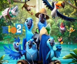 Die Hauptfiguren des Films Rio 2 puzzle