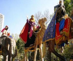 Die Heilige Drei Könige männer auf kamelen puzzle