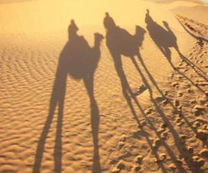 Die Heilige Drei Könige männer auf kamelen auf ihrem weg nach Bethlehem puzzle