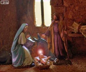 Die Heilige Familie am Heiligabend puzzle