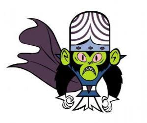 Die intelligente Affe Mojo Jojo ist der größte Feind des Utonium Schwestern, die Powerpuff Girls puzzle