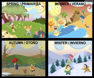 Die Jahreszeiten des Jahres puzzle