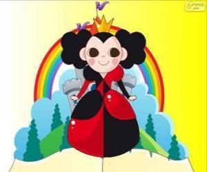 Die Königin der Herzen, die Krocket ist ihr hobby puzzle