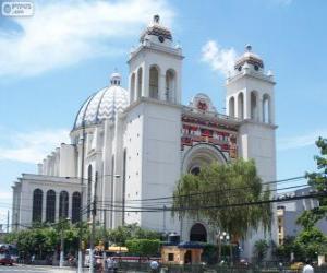 Die Kathedrale des Heiligen Erlösers, San Salvador, El Salvador puzzle