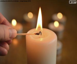 Die Kerze anzünden puzzle