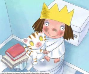 Die kleine Prinzessin mit ihrer Katze Puss puzzle