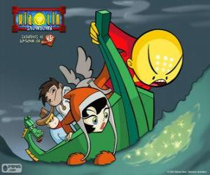 Die Krieger-Xiaolin und der Drache Dojo in ein Schiff verwandelt puzzle