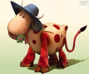 Die Kuh Wilma, einer der Charaktere aus Das Zauberkarussell puzzle