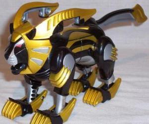 Die Löwe Zord, Yellow Power Ranger. Ninja Power Rangers puzzle