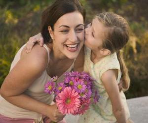 Die Liebe einer Tochter für die Mutter puzzle