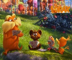 Die Lorax spielen mit Tieren aus dem Tal von Trufula puzzle