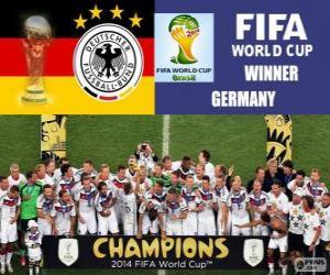 Die Mannschaft, Deutschland, der Weltmeister. Brasilien 2014 FIFA Fußball-Weltmeisterschaft puzzle