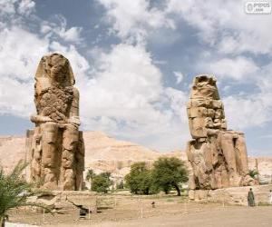 Die Memnonkolosse, Luxor, Ägypten puzzle