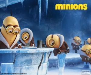 Die Minions in der Antarktis puzzle
