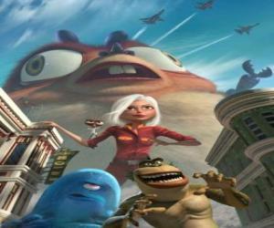 Die Monster sind die helden - Genormica, Professsor Dr. Kakerlake, B.O.B, The Missing Link und Insektosaurus puzzle