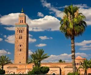 Die Moschee Koutoubia, Marrakesch, Marokko puzzle