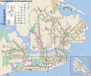 Die New Yorker u-Bahn-Karte puzzle