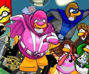 Die Pinguine Superhelden aus dem Club Penguin puzzle
