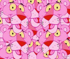 Die Pink Panther, einem lustigen Zeichentrickfilm puzzle