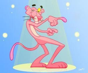 Die Pink Panther tanzen puzzle