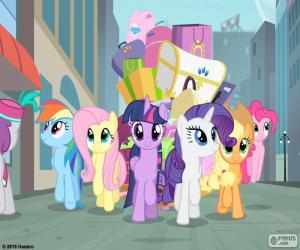 Die Ponys bei der Ankunft in Manehattan puzzle