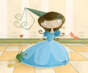 Die Prinzessin aus dem prinzen in einen frosch puzzle