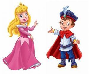 Die Prinzessin und der Prinz reden puzzle