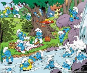 Die Schlümpfe im Fluss puzzle