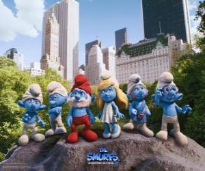 Die Schlümpfe im Central Park in New York City - Die Schlümpfe, film - puzzle