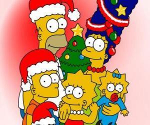Die Simpsons wünschen Ihnen ein frohes Weihnachtsfest puzzle