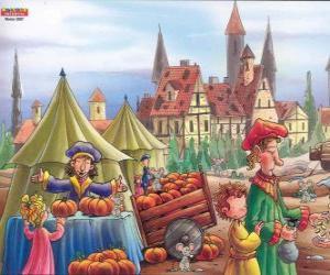 Die Stadt Hameln ist übersät mit Ratten, tun die Dorfbewohner nicht wissen, was zu tun ist puzzle