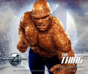Die stärksten Superhelden den Fantastischen Vier ist Das Ding puzzle