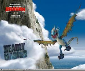 Die Tödlicher Nadder Drachen sind wendig und schnell in der Luft und kann über lange Strecken fliegen puzzle