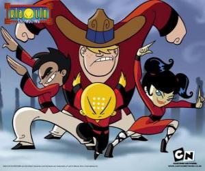 Die vier jungen Mönche, protagonisten der Xiaolin Showdown puzzle
