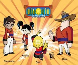 Die vier Xiaolin Krieger: Raimundo, Kimiko, Omi und Clay puzzle