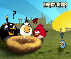 Die Vögel entdecken, dass jemand die Eier aus dem Nest gestohlen puzzle