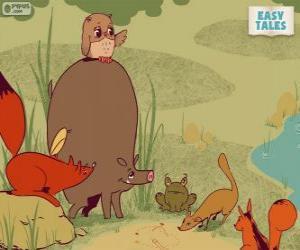 Die Waldtiere entscheiden der Karriereweg puzzle