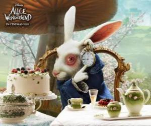 Die Weißes Kaninchen immer in Eile puzzle