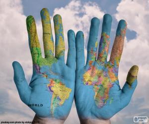 Die Welt in unseren Händen puzzle