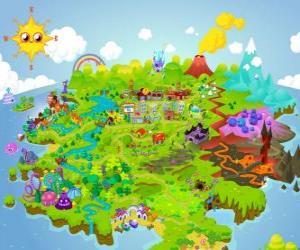 Die Welt von Moshi Monsters puzzle