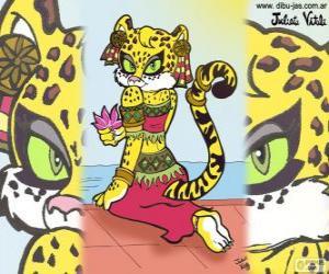 Die wunderschöne Tigerin. Zeichnung von Julieta Vitali puzzle