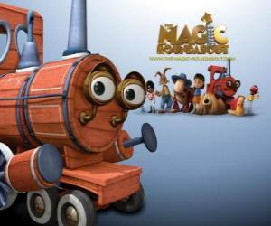 Die Zug, einer der magischen Spielzeuge im Film Das Zauberkarussell puzzle
