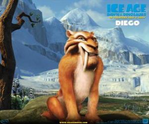 Diego, der säbelzahn tiger puzzle