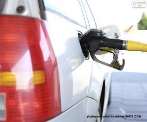 Dieselauto betanken puzzle