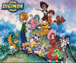 Digimon Charaktere puzzle