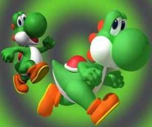 Dinosaurier Yoshi ist Mario bester Freund puzzle