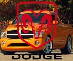 Dodge Logo, amerikanische Automobilmarke puzzle