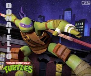Donatello, ist die Waffe des Ninja-Schildkröten der japanischen langstock Bo puzzle