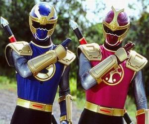 Donner Ranger sind ein Duo Crimson und Navy puzzle