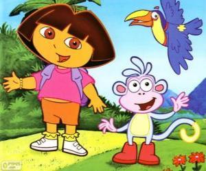 Dora die Explorer und ihrem Affen Freund Boots puzzle